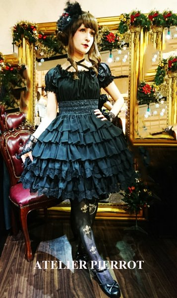 【ATELIER PIERROT】アトリエピエロ Royal Garden Dress Black