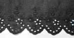 綿 薔薇レース/Cotton Lace  黒 Black 14m