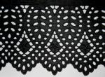 綿レース/Cotton Lace  黒 Black 14m