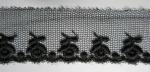 花チュールレース Black  13.7m
