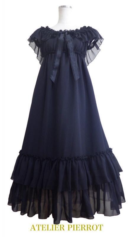 【ATELIER PIERROT】アトリエピエロ ailes de l'ange Dress(エール ド ランジュ ドレス)Black