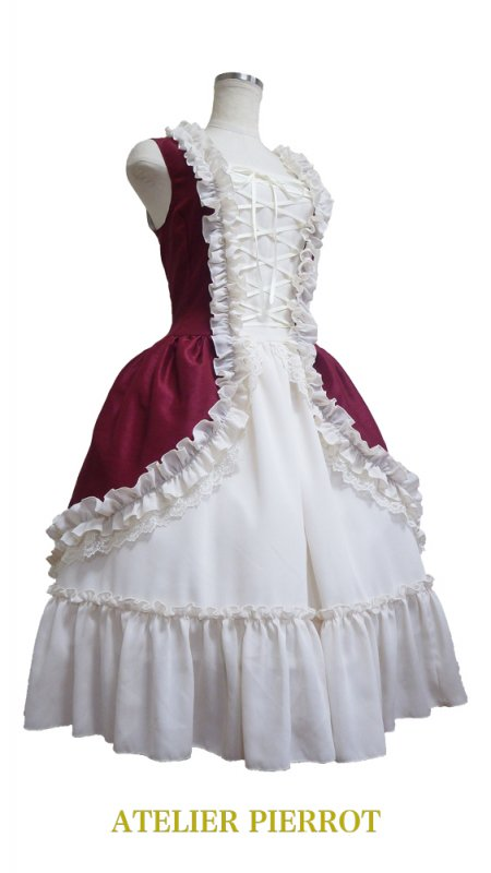 【ATELIER PIERROT】アトリエピエロ プティロココドレス(Petit Rococo Dress)Wine