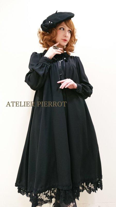 【ATELIER PIERROT】アトリエピエロ amabile dress アマービレドレス ブラック 再入荷★3月末入荷予定★
