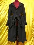 【MARBLE】マーブル ヴィクトリアンロングドレスジャケット:黒×黒シフォン