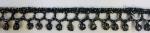 ラメケミカルレース    Gold×Black/Silver×Black   13.7m