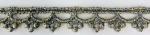 ラメケミカルレース    Gold×Gray/Silver×Gray   13.7m