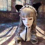 【uf】ウフ 耳付きヘッドドレス(3way)