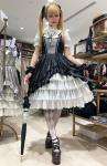 【ATELIER PIERROT】アトリエピエロ ルミエールジャンパースカート /lumière Jumper skirt  Black×White