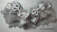 【ATELIER PIERROT】アトリエピエロ 薔薇リボンレースお袖とめ 黒