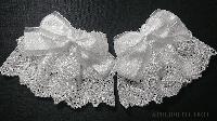 【ATELIER PIERROT】アトリエピエロ 薔薇リボンレースお袖とめ 白
