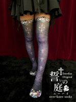 【Estrellas】エストレージャス 誓いの庭ニーハイソックス/紫