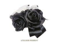 【ATELIER PIERROT】アトリエピエロ ローズブーケコサージュ 黒