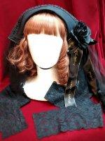 【Triple fortune】トリプルフォーチュン 修道女ヘッドドレス(ブラック)