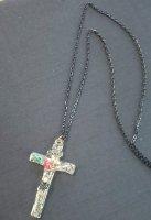 【modifica】モディーフィカ Crystal Crosse Necklace  B