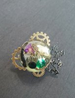 【modifica】モディーフィカ  Steam Punk Cat Ring B