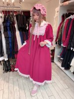<img class='new_mark_img1' src='https://img.shop-pro.jp/img/new/icons16.gif' style='border:none;display:inline;margin:0px;padding:0px;width:auto;' />【ATELIER PIERROT】アトリエピエロ ペタルドールワンピース ワイン×ピンク 30%OFF!!
