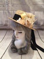 【uf(picnoberry)】ウフ 春日和カンカン帽  Ivory