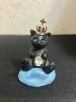 【AliceGarden Rose】アリスガーデンロゼ   王冠ネコネックレス 黒ネコ