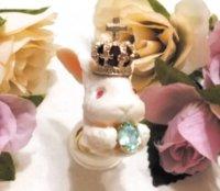 【Alice Garden Rose】アリスガーデン うさぎ フラットバックリング