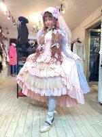 【ATELIER PIERROT】シャーロットバッスルコルセットスカート   Pink×Gold