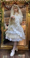 【ATELIER PIERROT】シャーロットバッスルコルセットスカート   White×Gold