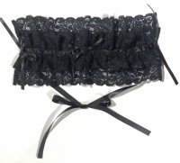 【MARBLE】マーブル レースティアードヘッドドレス:黒×黒