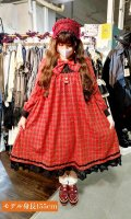 <img class='new_mark_img1' src='https://img.shop-pro.jp/img/new/icons16.gif' style='border:none;display:inline;margin:0px;padding:0px;width:auto;' />【ATELIER PIERROT】アトリエピエロ アマービレドレス チェック レッド ★40%OFF!!★