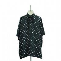 【MiDiom】ミディオム Dot Square Shirt Black