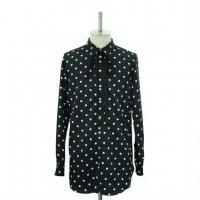 【MiDiom】ミディオム Dot Ribbon Shirt Black