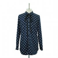 【MiDiom】ミディオム Dot Ribbon Shirt Navy