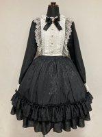 【Pina sweet collection】ピナ ローズジャガードワンピース(長袖/ブラック)