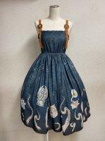 【Violet Fane】ヴァイオレットフェーン Sea Monsters ジャンパースカート  (Blue) ★再入荷★