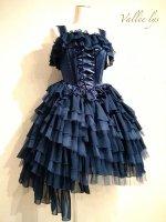 【Vallee lys】ヴァレリス ノネットジャンパースカート ネイビー