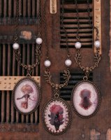 "【Luxmira】ルクスミラ Necklace ""小さな秘密"" series(薔薇とパール/鍵/鍵穴)"