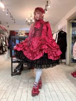 【ATELIER PIERROT】アトリエピエロ コルセットワンピース   薔薇ジャガード ワインレッド