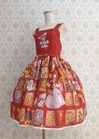 【Violet Fane】OTOME Nostalgia ジャンパースカート  RED
