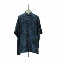 【MiDiom】ミディオム Marble Square Shirt Black