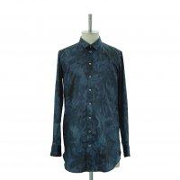 【MiDiom】ミディオム Marble Long Shirt Black