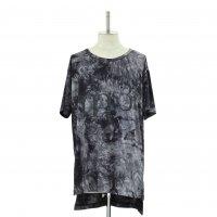 【MiDiom】ミディオム Tie Dye Print Big Tee Black