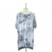 【MiDiom】ミディオム Tie Dye Print Big Tee Gray