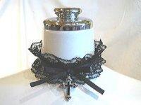 【MARBLE】マーブル ◆受注商品◆ダイヤ付き十字架チョーカー:黒レース×黒十字架