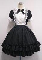 【Pina sweet collection】 ローズジャガードワンピース(半袖)  ブラック