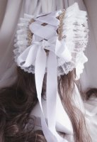 """【Luxmira】ルクスミラ Summer Headdress """"Dentelle"""" White"""