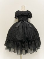 <img class='new_mark_img1' src='https://img.shop-pro.jp/img/new/icons1.gif' style='border:none;display:inline;margin:0px;padding:0px;width:auto;' />【ATELIER PIERROT】 Ruined castle dress (ルーンドキャッスルドレス) Black×Black lace