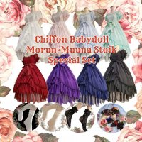 <img class='new_mark_img1' src='https://img.shop-pro.jp/img/new/icons1.gif' style='border:none;display:inline;margin:0px;padding:0px;width:auto;' />【Recommended Outfits】ATELIER PIERROT×Morun Muuna Stoik シフォンベビードールサマーコーディネート(3点セット)