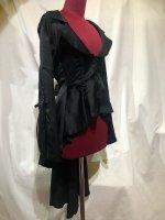 【MARBLE】マーブル 姫袖用流麗ドレープジャケット:光沢黒