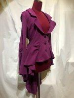 【MARBLE】マーブル 姫袖用流麗ドレープジャケット:ワイン