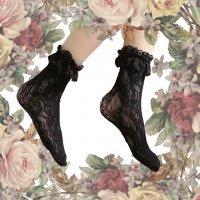 【Morun×Muuna Stoik】モランムーナストイック Frill Lace socks 黒