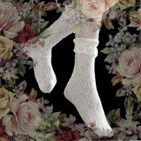 【Morun×Muuna Stoik】モランムーナストイック Frill Lace socks 白