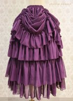 【ATELIER PIERROT】バッスルスカート ロング (Purple)